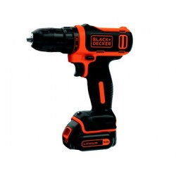 TRAPANO A BATTERIA BLACK&DECKER 10,8 V LITIO.  MOD.BDCDD12K